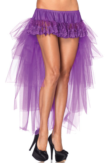 Leg Avenue юбка, фиолетовая С длинным шлейфом