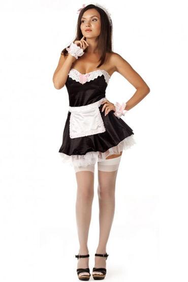 Le Frivole Домработница, Платье с подъюбником и аксессуары - Размер S-M от condom-shop.ru