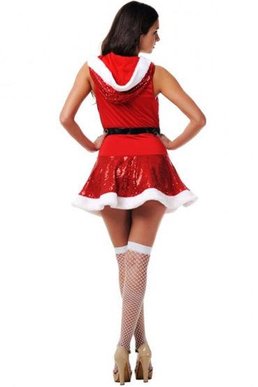 Le Frivole Загадочная Снегурочка Мини-платье, ремень и чулки