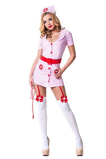 Le Frivole Похотливая медсестра Халатик, чепчик и лаковый пояс
