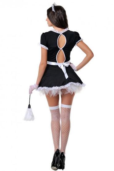Le Frivole Служанка Платье с фартуком, перчатки, чулки и аксессуары