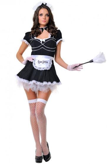 Le Frivole Служанка, Платье с фартуком, перчатки, чулки и аксессуары - Размер S-M