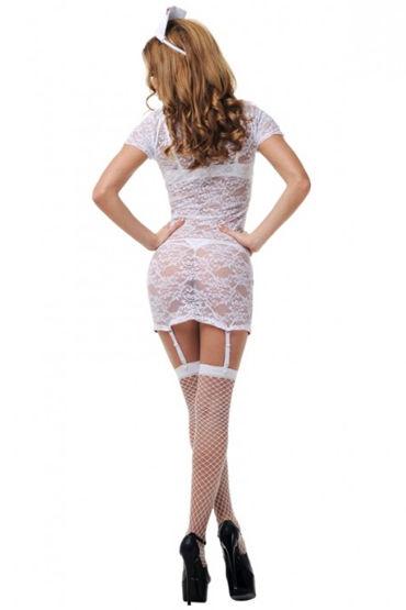 Le Frivole Страстная медсестра Мини-платье, чепчик, чулки и стетоскоп