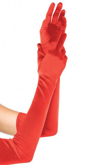 Leg Avenue Extra Long Satin Gloves, красные Длинные атласные перчатки