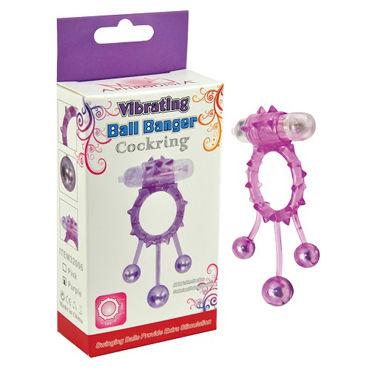 Howells Vibrating Ball Banger CockRing, фиолетовое Кольцо с утежеляющими шариками