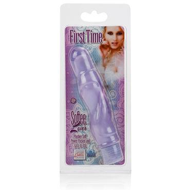 California Exotic First Time Softee Lover, фиолетовый Вибратор со съемной насадкой