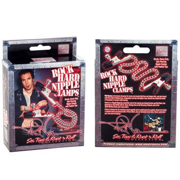 California Exotic Phil Varone Rock Hard Nipple Clamps, черные Зажимы для сосков