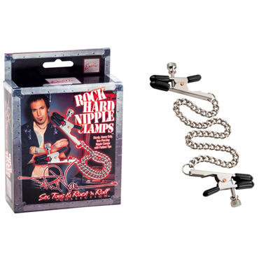 California Exotic Phil Varone Rock Hard Nipple Clamps, черные, Зажимы для сосков