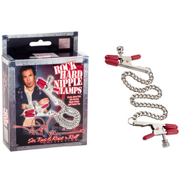 California Exotic Phil Varone Rock Hard Nipple Clamps, красные, Зажимы для сосков