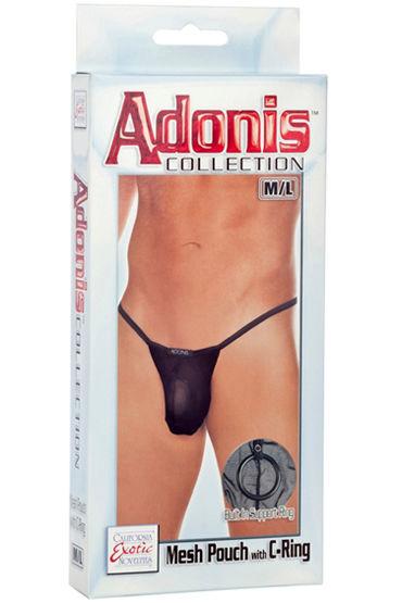 California Exotic Adonis Mesh Pouch with C-Ring Мужские трусы-стринги с кольцом на пенис