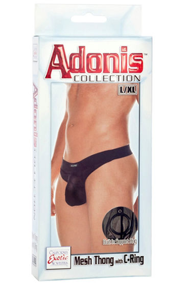 California Exotic Adonis Mesh Thong with C-Ring, ������� �����-������� � ������� �� ����� - ������ L/XL