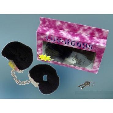 Seven Creations Luv Bonds, черные Металлические наручники с мехом