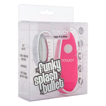 Toy Joy Funky Splash, розовое Виброяйцо с выносным пультом управления