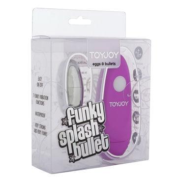 Toy Joy Funky Splash, темно-розовое Виброяйцо с выносным пультом управления
