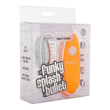 Toy Joy Funky Splash, оранжевое, Виброяйцо с выносным пультом управления