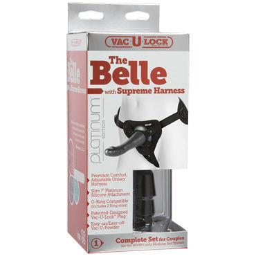 Doc Johnson The Belle with Supreme Harness Страпон с турсиками для крепления