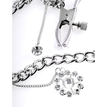 Pipedream Crystal Nipple Clamps Зажимы для сосков с кулоном
