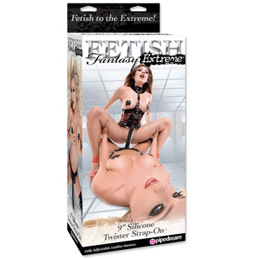 Pipedream Silicone Twister Strap-On, ������� � ��������� ��������