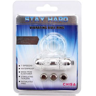 Chisa Ball Stay Hard Vibrating Bull Ring Эрекционное виброкольцо со стимулятором клитора