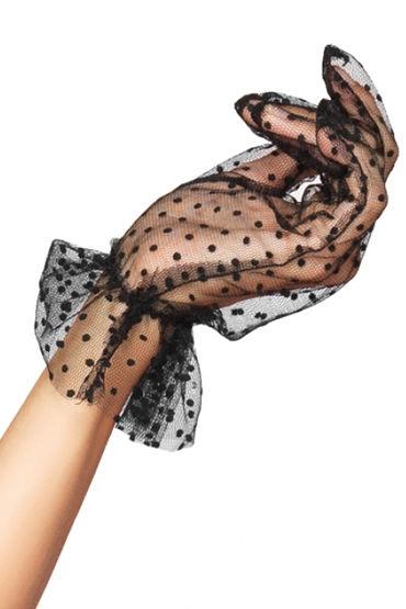 Leg Avenue перчатки В кокетливый горошек