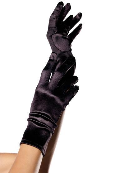 Leg Avenue перчатки, красные Из блестящего атласа