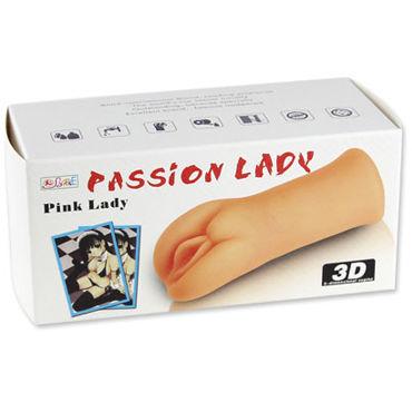 Baile Pink Lady 3D, 14,5 см Реалистичный мастурбатор-вагина