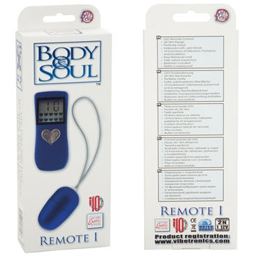 California Exotic Body&Soul Remote, синий Виброяйцо с беспроводным управлением