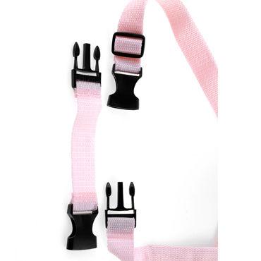 Pipedream Tru Fit Vibrating Strap On, розовый Страпон с вибрацией на трусиках