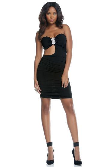 Forplay Lingerie мини-платье С красивой брошью из горного хрусталя
