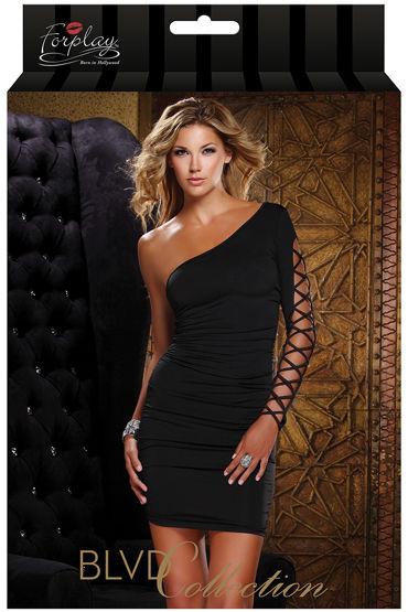 Forplay Lingerie мини-платье, черное С открытым плечом