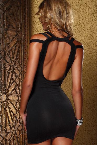 Forplay Lingerie мини-платье, черное С оригинальными бретельками