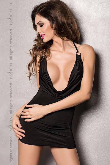 Passion Miracle, черный Мини-платье с глубоким декольте