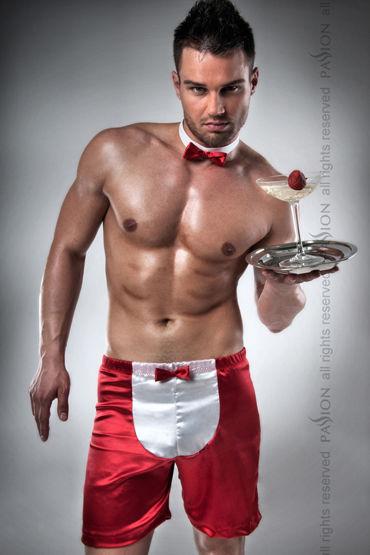 Passion Официант Атласные трусы-шорты и галстук-бабочка