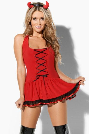 Kiss Me The Devil Кокетливое платье с контрастной отделкой