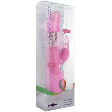 Seven Creations Dream 7 Bunny, розовый Мультискоростной вибратор с зайчиком
