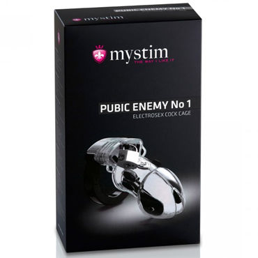 Mystim Pubic Enemy No 1 Cock Cage Пояс верности для электростимуляции