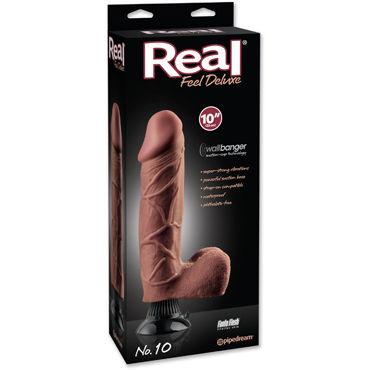 Pipedream Real Feel Deluxe No10, коричневый Вибратор супер-реалистик