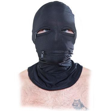 Pipedream Zipper Face Hood Маска с прорезями в области глаз и рта