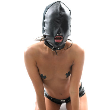 Pipedream Leather Breathable Hood Маска на лицо