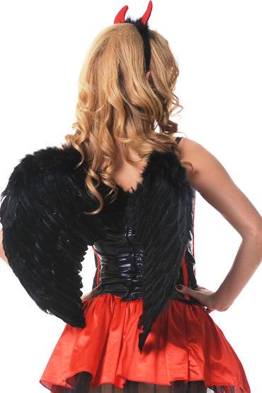 Le Frivole крылья, черные, Закругленные, 60х50 см