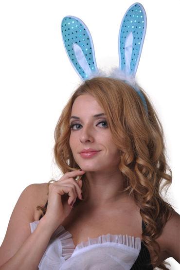 Le Frivole ушки, голубые, С пайетками - Размер Универсальный (XS-L) от condom-shop.ru