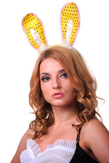 Le Frivole ушки, желтые, С пайетками - Размер Универсальный (XS-L) от condom-shop.ru