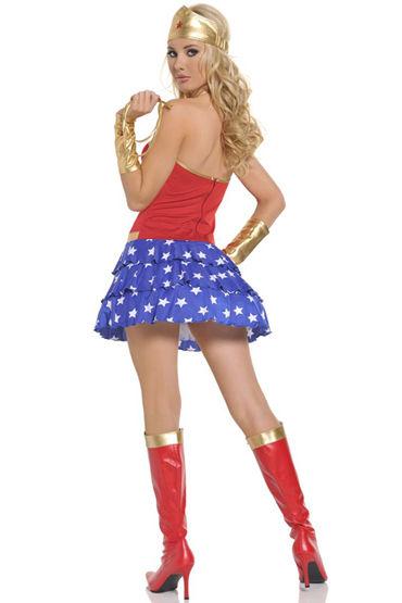 Le Frivole Wonder Woman Мини-платье, стринги, манжеты и головной убор