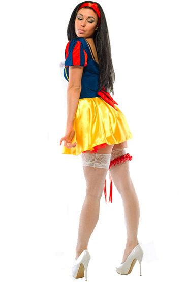 Le Frivole Игривая Белоснежка Платье с лентой для волос