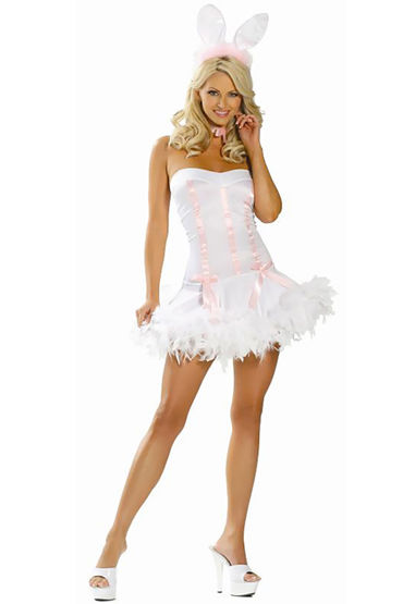 Le Frivole Пасхальный Кролик, Игривое мини-платье и ушки - Размер S-M