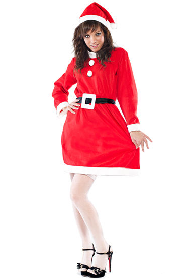 Le Frivole Снегурочка Платье с ремешком и шапочка