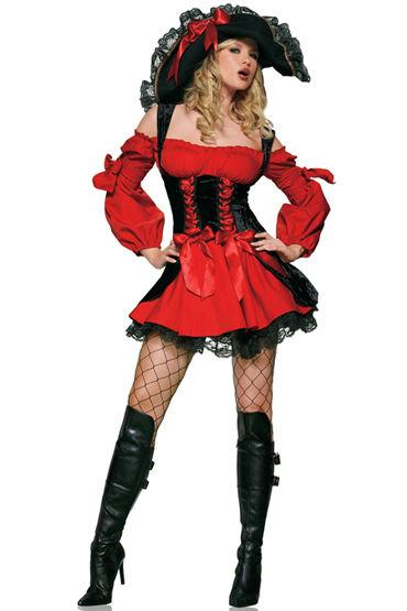 Le Frivole Средневековая Пиратка, Роскошное платье с длинными рукавами - Размер XL от condom-shop.ru