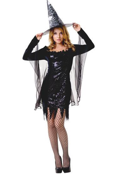 Le Frivole Ведьмочка Платье с накидкой, шляпа и чулки