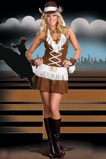 Le Frivole Howdy Partner Платье с бахромой и манжеты