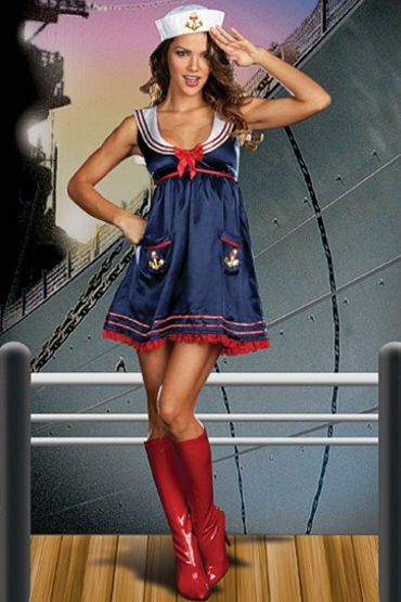Le Frivole Sailor Mine Мини-платье и шапочка